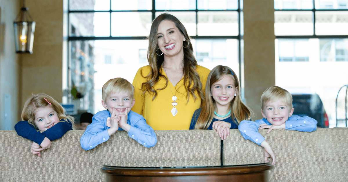 Solo law practice mom, Bonnie Faucett, with her 4 children.