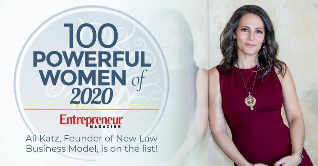 Ali Katz 100 Powerful Women of 2020 by Entrepreneur Magazine