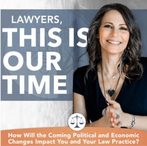 Ali Katz, New Law Business Model Founder. Copy overlay: Lawyers, this is our time.