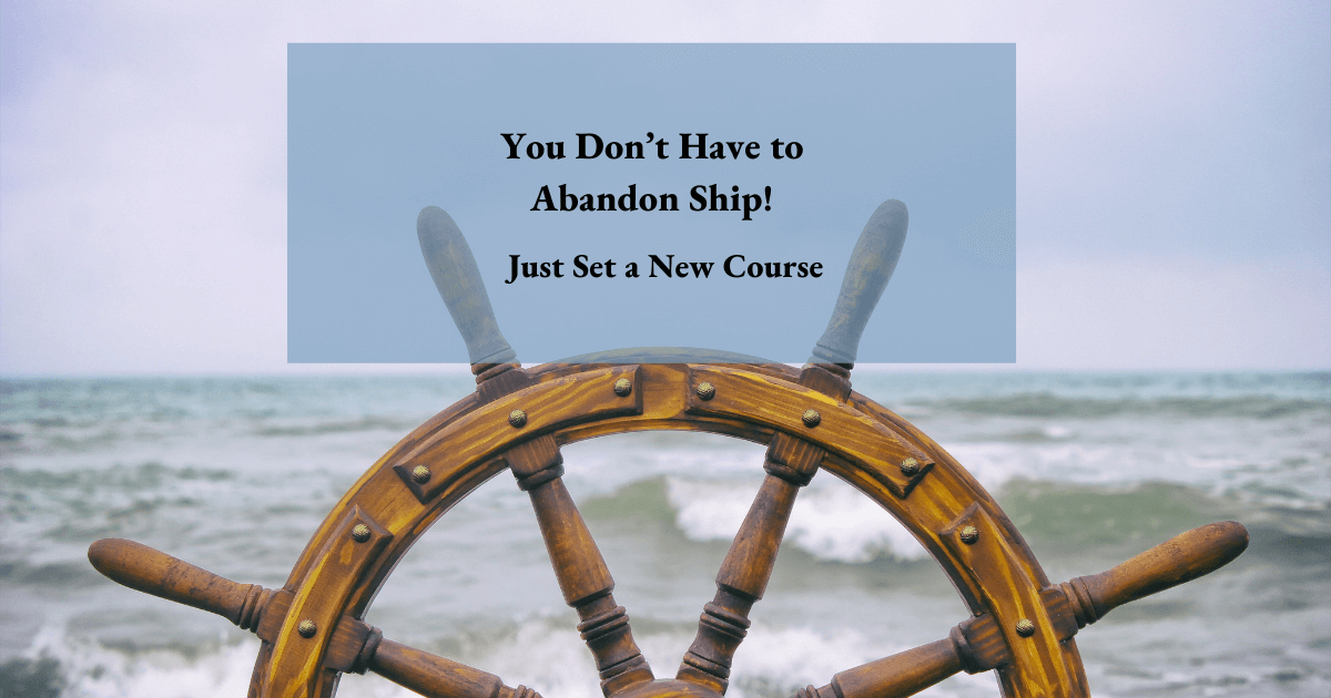 Captains wheel as concept for those looking for alternative careers with a law degree
